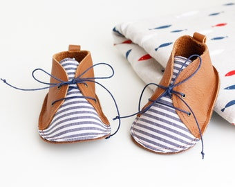 CADAQUÉS modern baby shoes in genuine soft leather and cotton