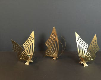 Brass Butterfly - Candle Holders and Statue