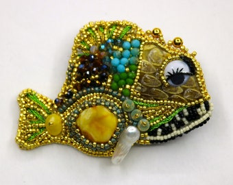 Bead Embroidery Tutorial, Fish embroidery Tutorial,  Beaded fish Pattern Jpg ,