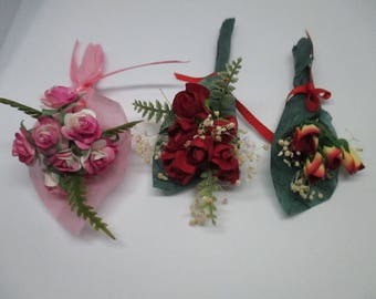 1:6 Scale Barbie, Fashion Royalty Dollhouse Diorama Valentine Accessorie, Bouquet of Roses