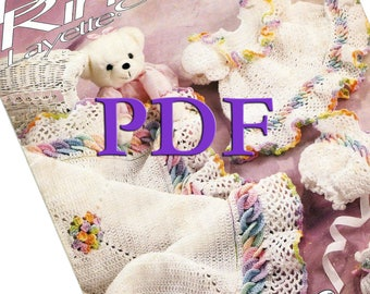 PDF - Crochet Baby Rings Layettes, 1992, Patterns for 7 pieces