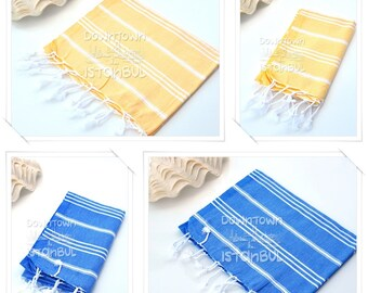 HAND TOWEL SET of 4 Peshkir Dish Towel Hair Towel Tea Towel Head Towel Face Towel Kitchen Towel Guest Towel Bathroom Towel Gift Towel Bath