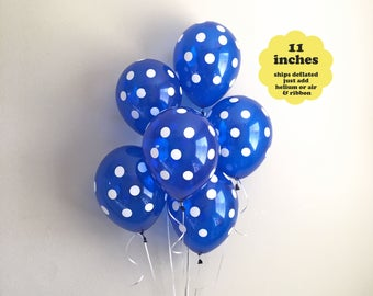 "Navy Blue Balloons - 6 pack 11"" Latex - Blue First Birthday Boy Baby Shower Bridal Shower Dark Blue Decorations Navy Balloons Party Decor"