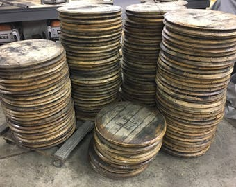 Bourbon Barrel Head, lid, top, barrel wood, reclaimed, Jim Beam, Makers Mark