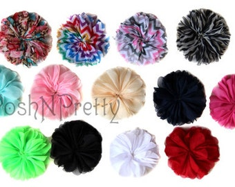Five 2.5 inches Blossom Flowers - CHOOSE Colors