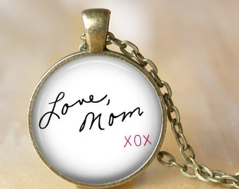 Personalized  Handwriting Pendant, Necklace or Key Chain - Custom writing, custom signature, child's writing, Mother's Day