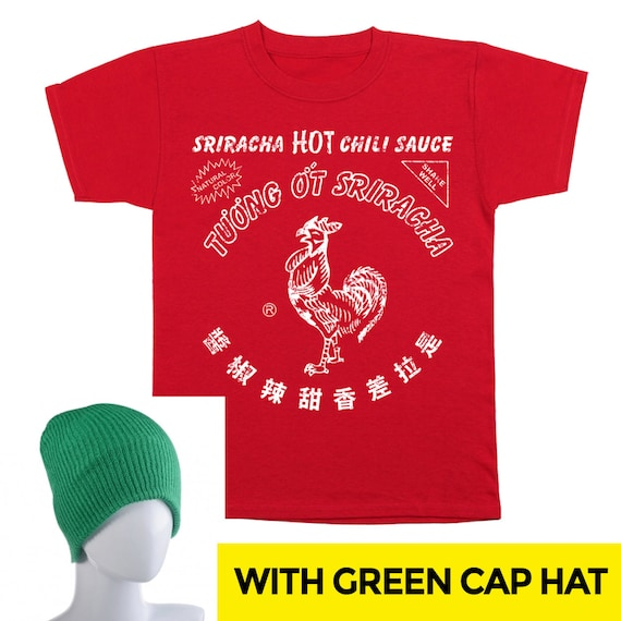 Sriracha Bottle Costume With Hat Funny Humor Hot Sauce Crewneck Sweatshirt DT0058 h024mALN