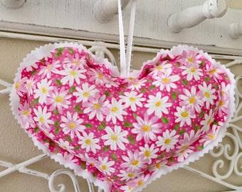 Hanging Heart Cushions, Hanging Hearts, Valentine Hearts, Heart Decorations, Stuffed Hanging Hearts, Heart Pillows