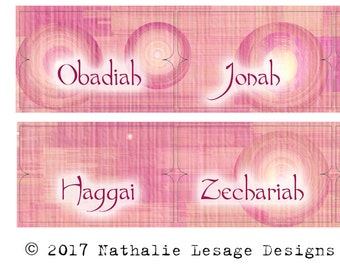 Bible Tabs Easter Gift Idea Bible Labels Paper Tabs Pink Circles Bible Study Labels Catholic DIY Print At Home Download File 2017BT11
