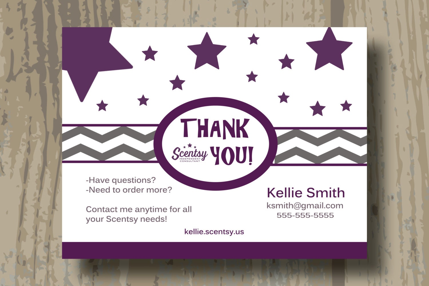 Authorized scentsy vendor custom scentsy thank you cards zoom xflitez Gallery