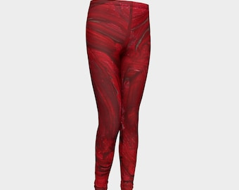 Red Youth Leggings. Finest quality! Satisfaction garenteed. Very comfortable! Great fit!