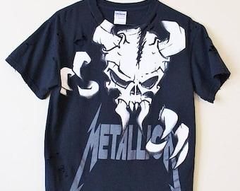Sale Distressed/ Shredded Metallica T Shirt Small