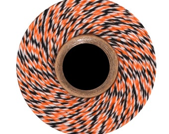 Halloween Divine Twine (240 yds) Orange, White and Black