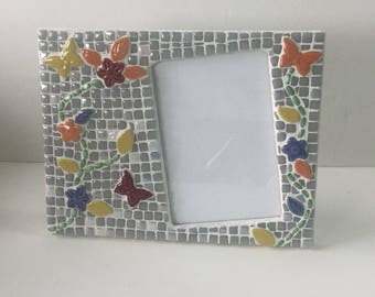 Butterfly Mosaic Picture Frame