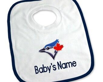Personalized Toronto Blue Jays Baby Bib