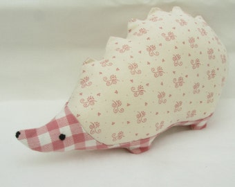 Hedgehog - cute stuffed animal - fabric decoration / soft sculpture / toy