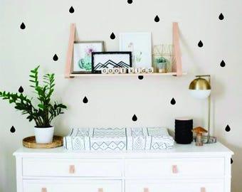 Water drops Wall Decal, Nursery Decor, Nordic, Minimalist, Scandinavian Decor