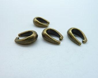 50pcs 8x11mm Antique Bronze Pinch Bails Claws Clasp  C3362
