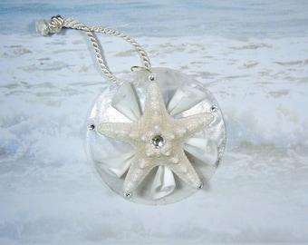 Starfish Seashell Holiday Ornament Wedding Favor - Lily Star - Starfish Seashell Wedding Gift