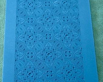 Nouveau Transition Rubber Stamp Texture Tile Clay Ink Ceramic Porcelain RTT127