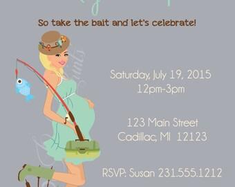 Neutral Gender Baby Shower Invitation • Fishing Baby Shower Invitation • Theme Baby Invitation for Boy or Girl 1103