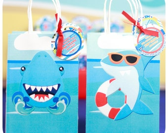 Shark Party; Shark Party; Shark Birthday Party; Shark Birthday; Birthday Party; Shark Gift Bags Premade and shipped to you!