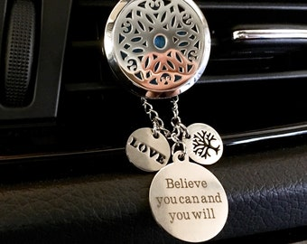 Car Diffuser, Essential Oils Locket, Aromatherapy Diffuser,