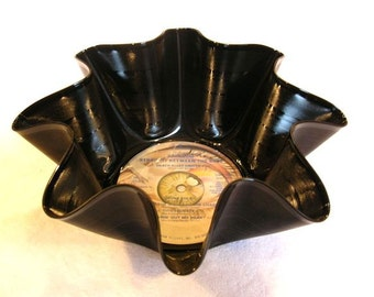 Awesome Rainbow Record Bowl Made From Vinyl Album   Ritchie Blackmore