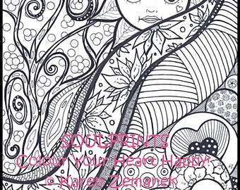 Vegetarian Coloring Book for Adults or Kids I Love