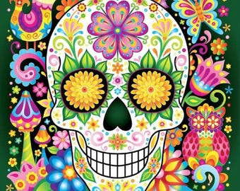 BUY 2, GET 1 FREE! Sugar Skull 117 Cross Stitch Pattern Counted Cross Stitch Chart, Pdf Format, Instant Download /220220