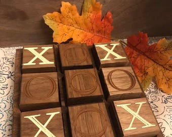 Tic Tac Toe Gameboard, Wooden Games, Classic games for kids,