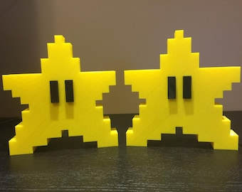 Super Mario Brothers Power Star Decoration - 3D Printed - SNES - N64 - Wii - Tree Topper