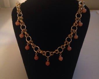 Red Aventurine Byzantine Necklace