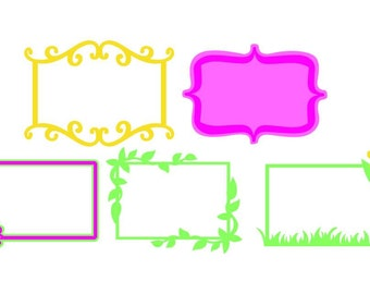Picture Frame Vector Art SVG Files