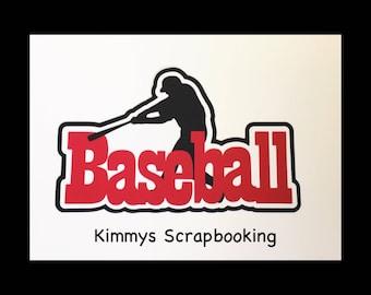 Baseball Scrapbook Title Premade Paper Piecing
