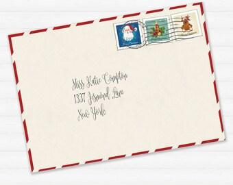 Santa letterhead frozen christmas style blank letter from printable envelope for letter from santa or christmas letter printable download santas envelope spiritdancerdesigns Choice Image