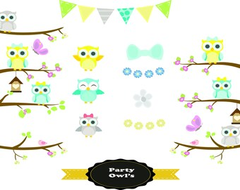 Owl clipart,Owl clip art,Owls clipart,Owls clip art,Bird clipart,clipart,commercial use,digital clip art,clipart,Instant download