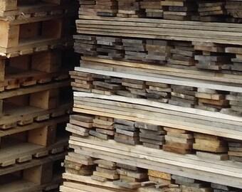Reclaimed Pallet Boards, Pallet Wood (Package of 10)