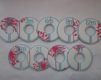 pink dandelion closet divider set