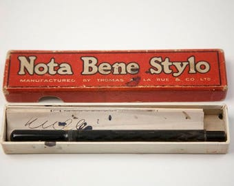 Stylo ink pencil Nota Bene De La Rue