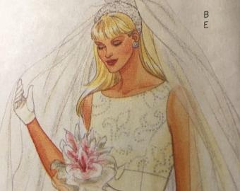 Butterick 5972 NEW pattern bridal veils, headpieces, 2 child veils, wreath