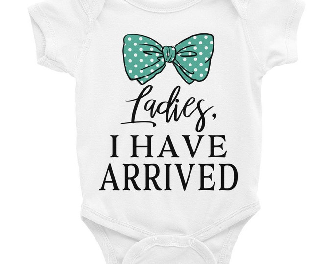 Funny Baby Nappy ,Ladies I Have Arrived, Funny Nappy, coming home outfit, Newborn Baby Boy Outfit, Baby Boy Coming Home Outfit, baby boy