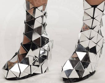 Disco ball mirror fashion overshoes for sale - Triangle style - from ETERESHOP