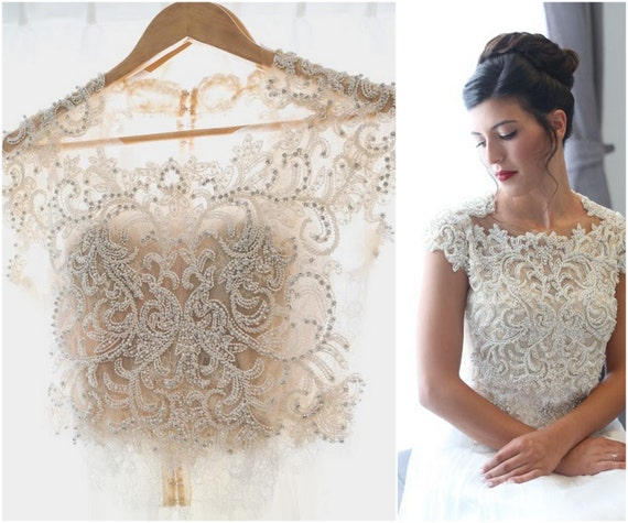 Lace wedding top lace bridal top wedding crop top bridal lace wedding top lace bridal top wedding crop top bridal lace top wedding dress top bridal separates bridal crop top 2 peace dress junglespirit Images
