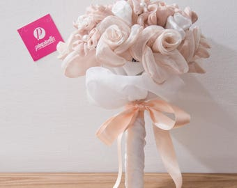 Pink and white fabric Bouquet