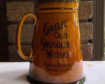 Vintage GAELIC Old Smuggler Whisky GLENLIVET Distillery SCOTLAND Royal Doulton Pitcher