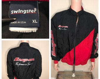 Vintage Snap-On Tools windbreaker // retro rare coat // 80s 90s // big logo spell out // snap-on performance // adult size XL // made in usa
