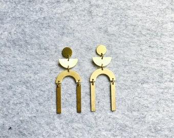 Brass Stud Earrings #24