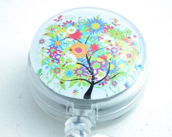 Colorful Tree on Retractable ID Badge Holder - Name Badge Reel 255
