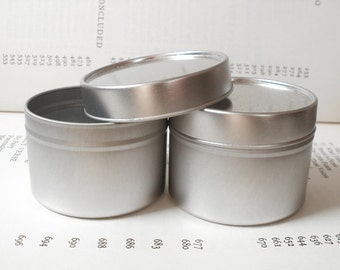 Round Tin With Solid Lids, 100ml Round Tin Boxes, Small Storage Box, Color Silver (A set Of 50 Tins)